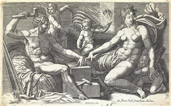 GIORGIO GHISI Venus and Vulcan at the Forge.