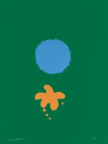 ADOLPH GOTTLIEB Green Ground, Blue Disk.