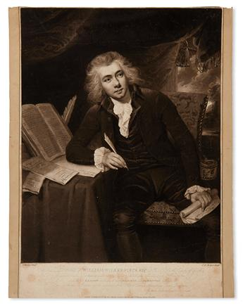(SLAVERY AND ABOLITION.) An engraved portrait of William Wilberforce, honoring him as the Chairman of the Anti-Slavery Committee.