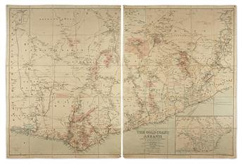 (AFRICA -- GOLD MINING.) Wallach, Henry; and Stanford, Edward. A Map of the Gold Coast with Part of Ashanti