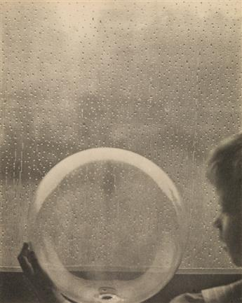 WHITE, CLARENCE H. (1871-1925) Drops of Rain, from Camera Work, Number 23.