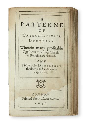 ANDREWES, LANCELOT. A Patterne of Catechisticall Doctrine.  1630