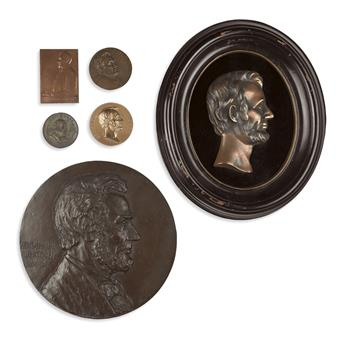 (REALIA.) Group of 16 Lincoln-related medallions.