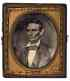 LINCOLN, ABRAHAM Sixth-plate ruby ambrotype of Abraham Lincoln,