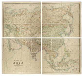 (ASIA.) Johnston, Alexander Keith. Stanfords Library Map of Asia.