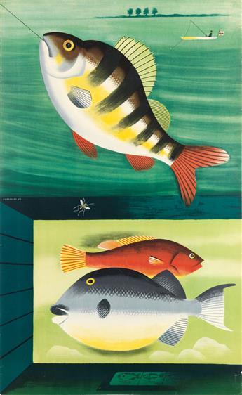 TOM ECKERSLEY (1914-1997). [WATCH OR CATCH / LONDON UNDERGROUND.] 1954. 40x24 inches, 101x62 cm. [Waterlow & Sons Ltd, London.]