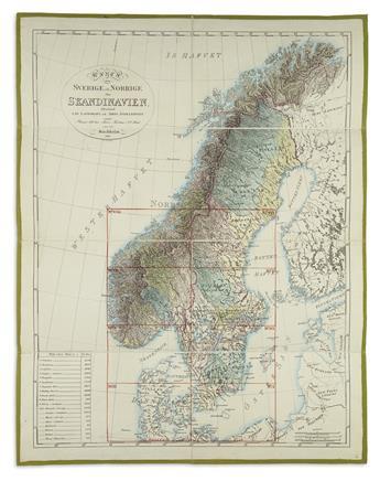 (SCANDINAVIA.) Forsell, Carl. Karta Ofver Sodra Delen af Sverige och Norrige Eller det Fordna sa Kallade Skandinavien