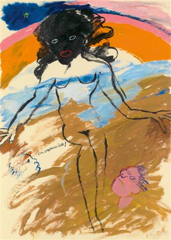 ROBERT COLESCOTT (1925 - 2009) Bather.
