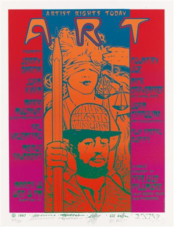VARIOUS ARTISTS. A.R.T. / ARTIST RIGHTS TODAY. 1987. 26x20 inches, 66x50 cm.