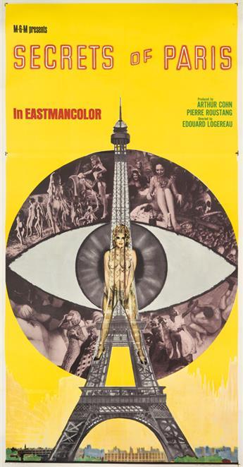 DESIGNER UNKNOWN. SECRETS OF PARIS. 1965. 78x40 inches, 199x103 cm.