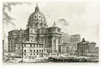 GIOVANNI B. PIRANESI Veduta dellEsterno della Gran Basilica di S. Pietro in Vaticano.