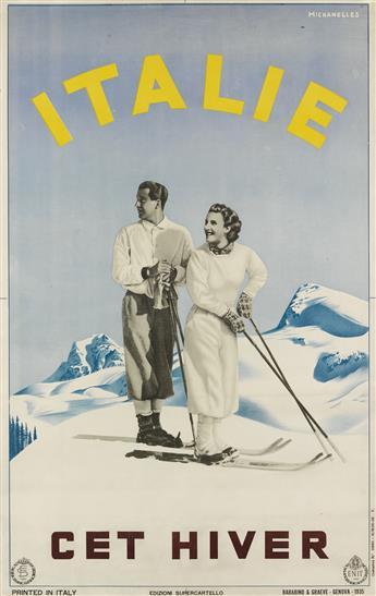 RUGGERO ALFREDO MICHAHELLES (1898-1976). ITALIE CET HIVER. 1935. 39x25 inches, 100x64 cm. Barabino & Graeve, Genova.