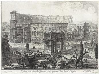 GIOVANNI B. PIRANESI Veduta dell'Arco di Constantino, e dell'Anfiteatro Flavio, detto il Colosseo.