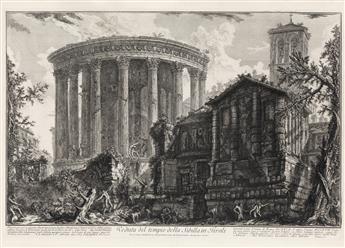 GIOVANNI B. PIRANESI Veduta del Tempio della Sibilla in Tivoli.