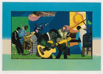 ROMARE BEARDEN (1911 - 1988) Jamming at the Savoy.