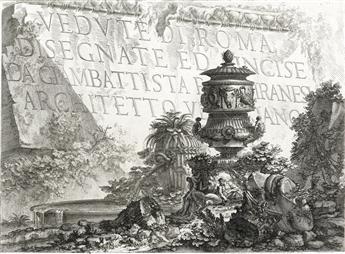 GIOVANNI B. PIRANESI Vedute di Roma: Title Page.