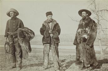 TRUMAN WARD INGERSOLL (1862-1922) Teddy Roosevelt, William Wingate Sewall, and Wilmot Dow, Little Missouri River, North Dakota.