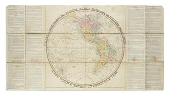 (GAMES.) Walker, [John]. Walkers Geographical Pastime Exhibiting a Complete Voyage Round the World in Two Hemispheres.