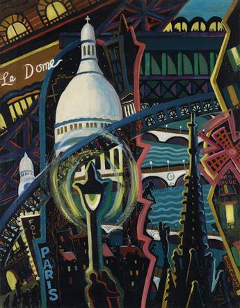 LOÏS MAILOU JONES (1905 - 1998) Paris le Soir.