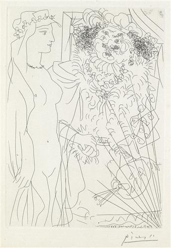 PABLO PICASSO Rembrandt et Femme au Voile.