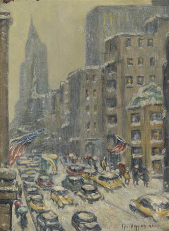 GUY C. WIGGINS 5th Avenue Winter.