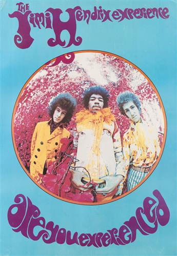 KARL FERRIS (1948- ). THE JIMI HENDRIX EXPERIENCE / ARE YOU EXPERIENCED. 1967. 52x37 inches, 132x94 cm.