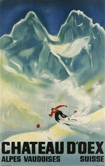 ALEX WALTER DIGGELMANN (1902-1987). CHATEAU DOEX. 1933. 40x26 inches, 103x66 cm. J.C. Müller, Zurich.