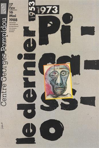 GRAPUS. LE DERNIER PICASSO 1953 - 1973 / CENTRE GEORGES POMPIDOU. 1988. 58x39 inches, 149x100 cm.