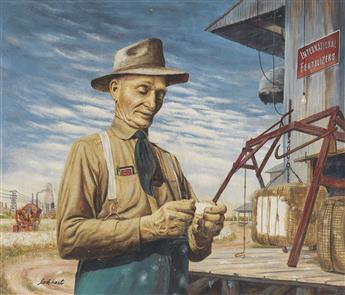 JAMES LOCKHART. (ADVERTISING / AGRICULTURE) Satisfaction at Harvest.