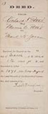 DOUGLASS, FREDERICK. Document Signed, as the Recorder of Deeds in the District of Columbia,