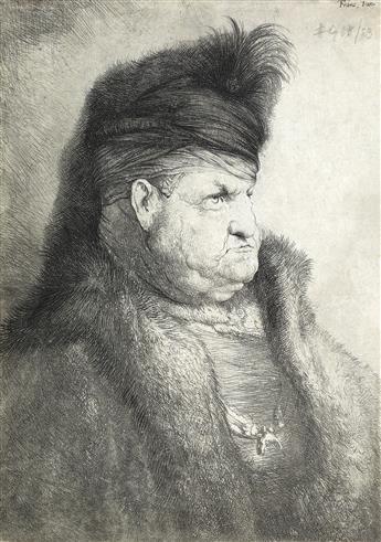 JAN LIEVENS Bust of an Oriental Man in a Turban.