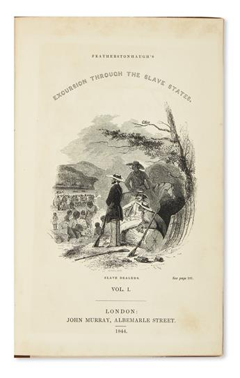 (TRAVEL.) Featherstonhaugh, George W. Excursion through the Slave States.