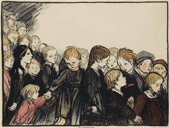 THÉOPHILE-ALEXANDRE STEINLEN (1859-1923). [LA MATERNELLE.] 1920. 31x41 inches, 80x104 cm. H. Chachoin, Paris.