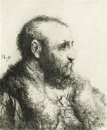 JAN LIEVENS Bust of a Man Wearing a Fur Coat: Profile.