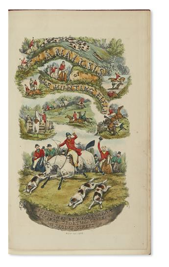 (SPORTING.) [Surtees, Robert Smith] and Alken, Henry (illus.). The Analysis of the Hunting Field; Being a Series of Sketches of the