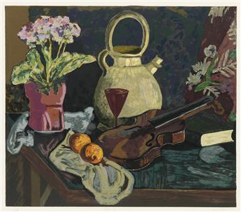 JAMES LESESNE WELLS (1902 - 1992) Still Life with Violin.