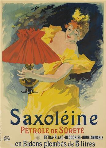 JULES CHÉRET (1836-1932). SAXOLÉINE. 1891. 48x35 inches, 123x90 cm. Chaix, Paris.