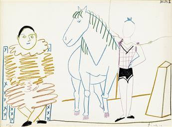 PABLO PICASSO (after) Clown et Cavalier de Cirque