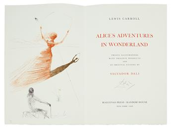 CARROLL, LEWIS / SALVADOR DALÍ. Alices Adventures in Wonderland.