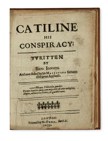 JONSON, BEN. Catiline His Conspiracy.  1635.  Lacks last leaf of text.