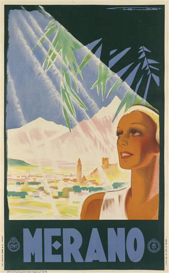 FRANZ LENHART (1898-1992). MERANO. 1934. 39x24 inches, 99x62 cm. Coen & Ci., Milan.