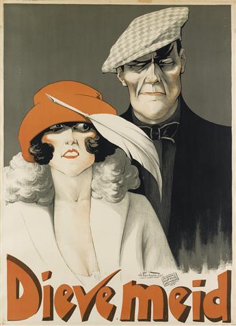 CHARLES VERSCHUUREN JR. (1891-1955). DIEVE MEID. Circa 1920. 42x31 inches, 108x80 cm. Drukkerij Kotting, Amsterdam.
