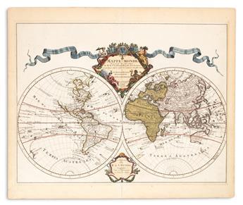 DE LISLE, GUILLAUME, after. Mappe-Monde Dressee sur les Observations de Mrs de lAcademie Royale des Sciences.