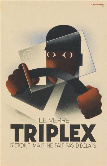 ADOLPHE MOURON CASSANDRE (1901-1968). TRIPLEX & [MAISON PRUNIER.] Two postcards. 1931 & 1934. Sizes vary.