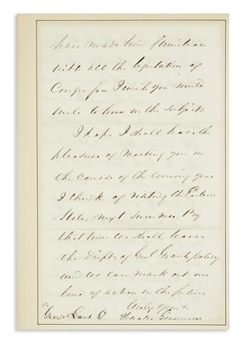 (PRESIDENTS--1868 CAMPAIGN.) Seymour, Horatio. Letter by the recently defeated and embittered Democratic candidate.