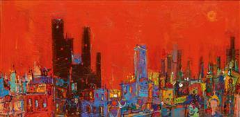 ALVIN CARL HOLLINGSWORTH (1928 - 2000) Women City Rouge.