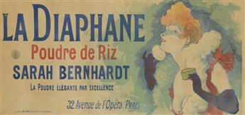 JULES CHÉRET (1836-1932). LA DIAPHANE / SARAH BERNHARDT. 1890. 16x34 inches, 42x86 cm. Chaix, Paris.