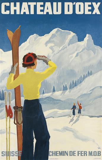 ALEX WALTER DIGGELMANN (1902-1987). CHATEAU DOEX. 1937. 40x26 inches, 101x66 cm. J.C. Müller, Zurich.