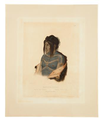 BODMER, KARL. Mahsette-Kuiuab. Chief of the Cree Indians. Vig. XXII.