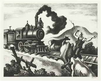 THOMAS HART BENTON Slow Train Through Arkansas.